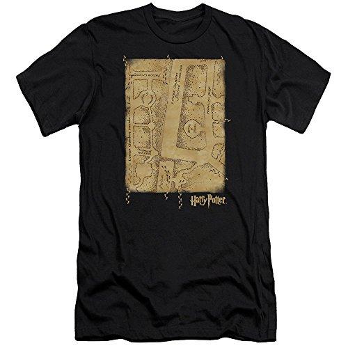 Harry Potter – Camiseta interior para hombre Marauders Map Slim Fit negro S