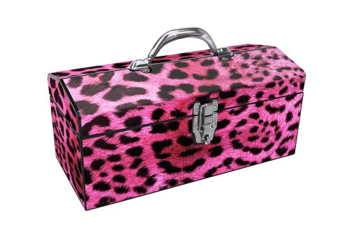 Pink Leopard print tool box, gift ideas for wife or girlfriend groomsmen image