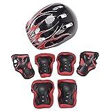 iEFiEL 7 Stück Kinder Mädchen Protektoren Set Profie Schutzausrüstung mit Verstellbar Helm...
