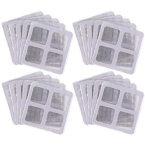 Xinlie Moskitonetz Reparatur Tür Fenster Mosquito Bildschirm Net Vorhang Patch Mosquito Bildschirm Net Fenster Tür Patch für Reparaturlöcher Risse Verhindern Moskitos(20 Stück)