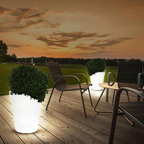 2er Set LED Solar Leuchten Blumen Töpfe Außen Beleuchtungen Dekorationen Steh Lampen