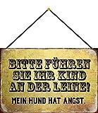Cartel de Chapa 20 x 30 cm arqueado con Cordel, mi Perro Tie