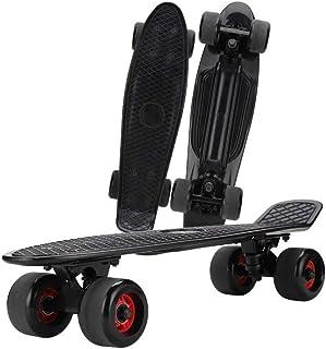 スケートボード 22インチ ミニクルーザー ABEC-11ベアリング採用 高精度 スケボー 集中力や平衡感覚育成 初心者に 大人/若者/子供用 誕生日/ギフト/プレゼントなどに