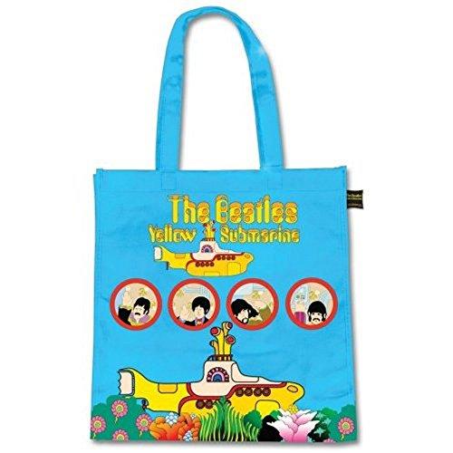 The Beatles - schoudertas - shopper tas - geel submarine - logo