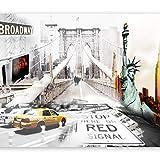 murando Fotomurales 250x175 cm XXL Papel pintado tejido no tejido Decoración de Pared decorativos Murales moderna de Diseno Fotográfico New York 10110904-1
