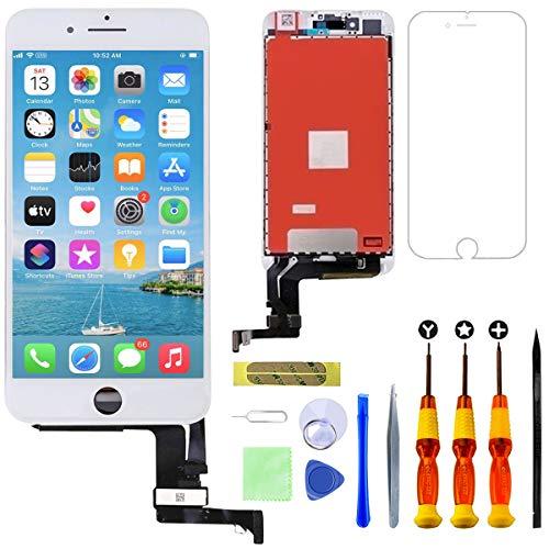 GULEEK Pantalla para iPhone 7 4,7' Pantalla táctil LCD Pantalla de Cristal Reemplazo del Marco del digitalizador con Herramientas de reparación (Blanco)