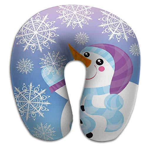 Almohada en Forma de U Cuello Almohada Multifuncional Muñeco de Nieve eléctrico
