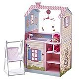 Teamson Kids-TD-11460A Maison de poupée, TD-11460A, Rose