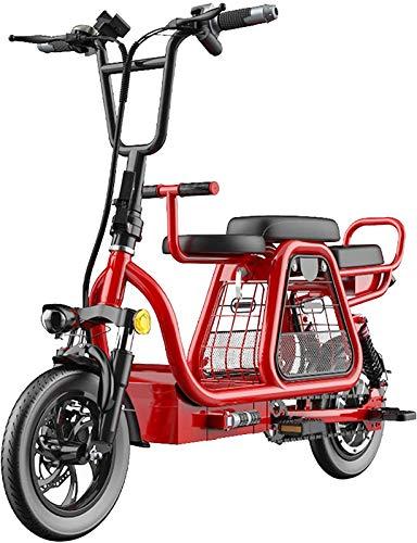 Bicicletas Eléctricas, 350W plegable bicicleta eléctrica de 12' bicicletas eléctricas for adultos 48V 8AH batería de litio Electric Mountain scooter con la cesta del almacenaje y desmontable Kid Asien