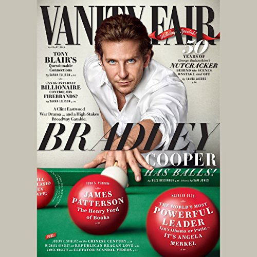 Vanity Fair: January 2015 Issue                   By:                                                                                                                                 Vanity Fair                               Narrated by:                                                                                                                                 Graydon Carter,                                                                                        various narrators                      Length: 5 hrs and 5 mins     3 ratings     Overall 5.0
