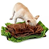 Petneces ペットおまちゃ 犬 猫 ノーズワーク 鼻づまり 餌マット 嗅覚活用 遊び場所 訓練毛布 集中力向上 性格改善 運動不足/ストレス解消 分離不安/食いちぎる対策 カラフル 全2種 (M, グリーン)