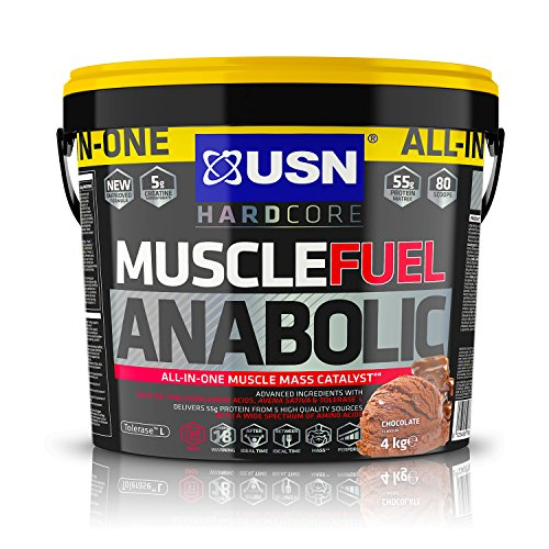 USN Muscle Fuel Anabolic Chocolate Lean Muscle Gain Shake Powder, 4000 g