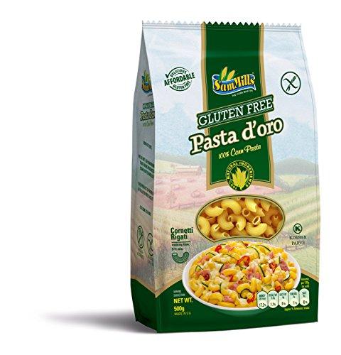 Pasta d´oro – Glutenfreie Nudeln (Cornetti Rigati) aus Maismehl | 500 g Packung