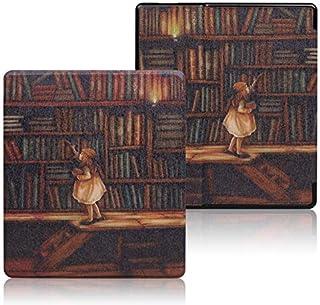 Capa de couro pintado para Kindle Oasis, serve apenas para o novo Kindle Oasis de 7 polegadas [10ª geração, lançamento de ...