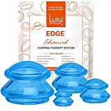 Lure Essentials Edge Cupping Set for Home Use and Massage Therapists,...