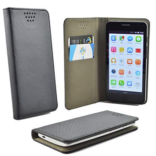 ikracase Handytasche für Sharp Aquos D10 Smartphone Tasche Schutzhülle Hülle Kleber Cover Hülle Handy Handyhülle in Schwarz