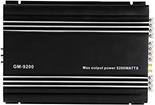 $110 » 4x50W 4-Channel Car Audio Amplifier, 12V Black Aluminum Alloy Auto Car Hifi Stereo Amplifier