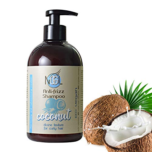 NGGL Vegan Premium Hair Spa with 100% natural Coconut oil Anti-frizz; Shampoo 500ml