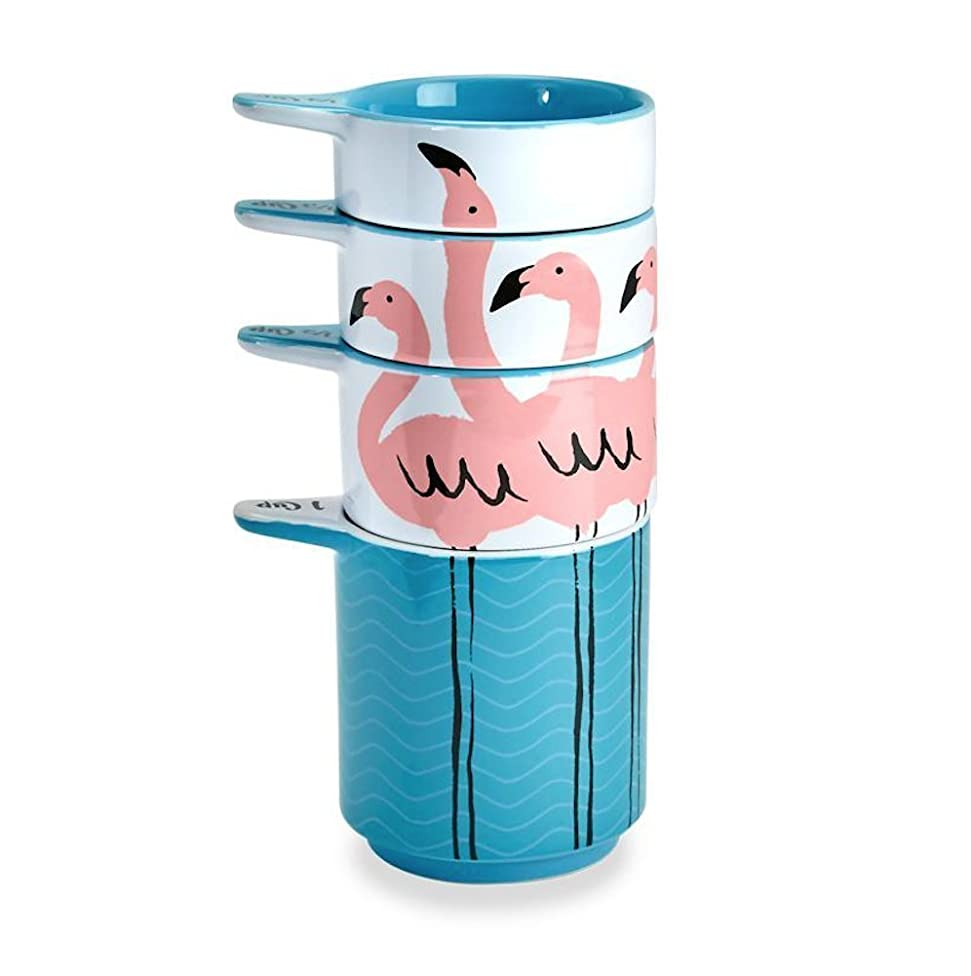 Kitsch'n Glam Measuring Cup Stack - Flamingo