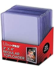 Ultra Pro 25 3 X 4 Top Loader Card Holder for Baseball, Football, Basketball, Hockey, Golf, Single Sports Cards Top Loads - Sportcards Card Collecting Supplies
