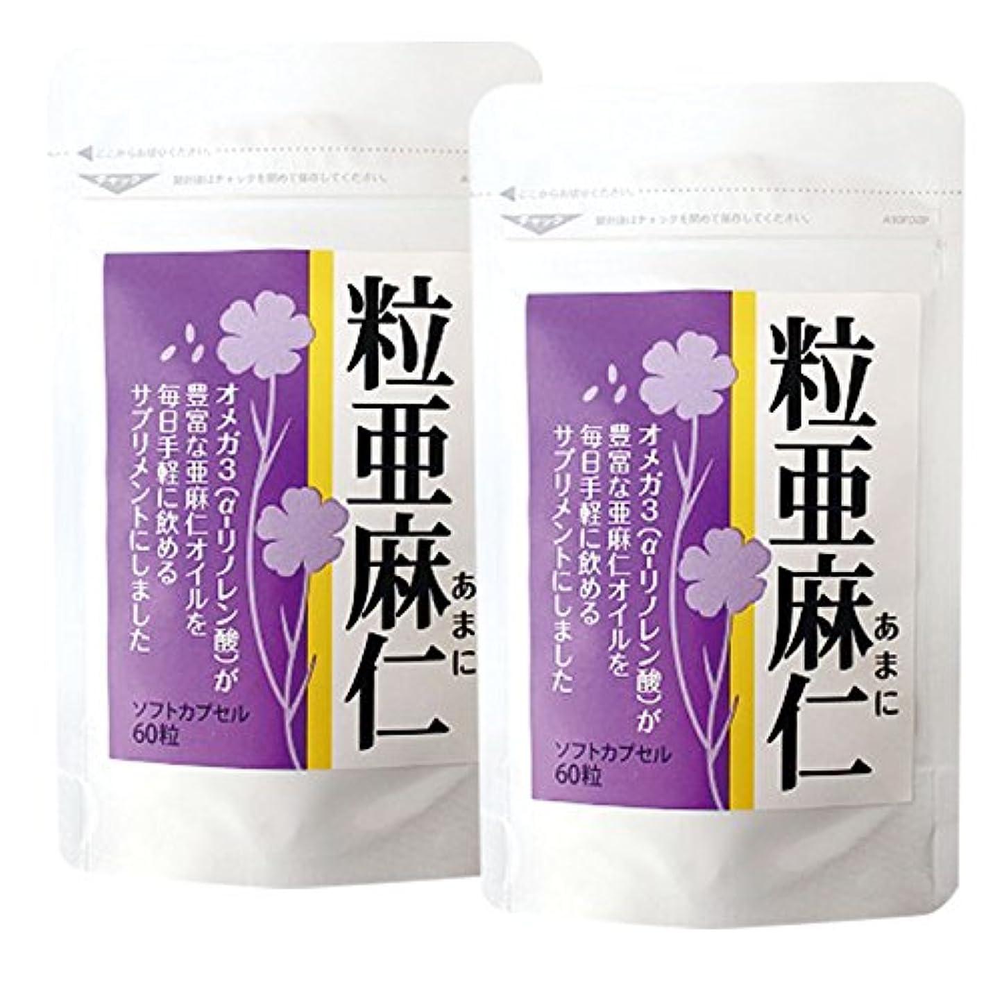 ブリーフケースガジュマル過敏な粒亜麻仁(60粒)×2袋セット