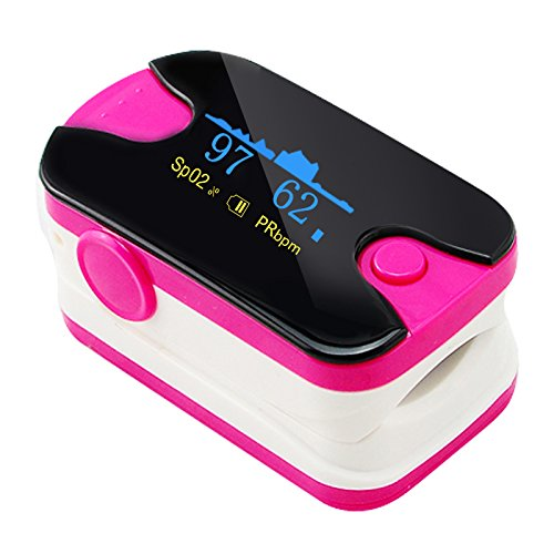 Fingertip Pulse Oximeter Blood Oxygen Saturation Monitor with Color OLED,...