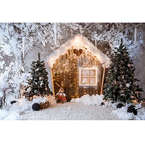 Fondo fotografía de Navidad, Ci-Fotto Fondos fotográficos 2x1,5m Fondo de casa de...