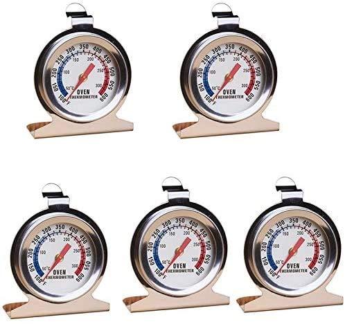 WJHCDDA Termómetro Cocina 5 PCS Termómetros de Horno Resistentes a Alta Temperatura Termómetro de Acero para el hogar Termómetro BBQ Termómetro Herramientas para Hornear