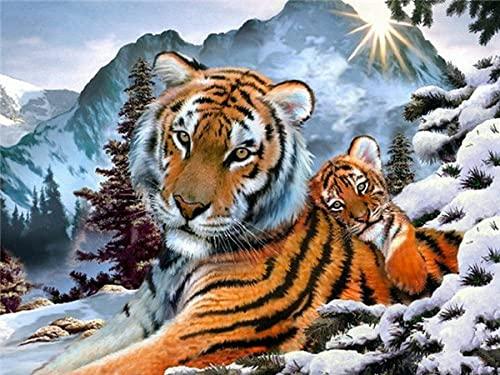 ZMGYA Adulti 1000 Pezzi, Tiger-5000Collezione Arte, Puzzles da Adulti Puzzle in di Legno- Giochi Puzzle Relax-rompicapo Puzzle