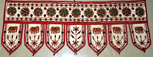 Marusthali Vintage Handmade Cotton Door Hanging Ethnic Topper Toran Indian Window Valance 37da 35,6cm