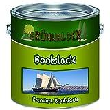 Grünwalder Premium 2-Komponenten Bootslack Yachtlack im Set für GFK, Polyester und Kunststoff inkl. Härter GLÄNZEND ALLE RAL Töne und klarlack Bootsfarbe Yachtfarbe Lack (2,5 kg, Weiß RAL 9010)