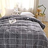 Leichte Flanell Decke, Morbuy Kuscheldecke Sofadecke Bettüberwurf Erhältlich Decke Tagesdecke Decke für Sofa & Bett Falten-widerstandsfähig Schmusedecke (120x200cm,Graue Krone)