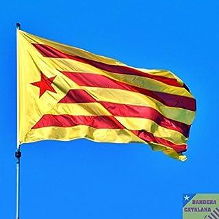 MI RINCON Bandera de CATALUÑA ESTELADA VERMELLA 90 x 150cm - Bandera CATALANA INDEPENDENTISTA – Catalunya