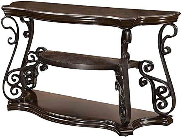 BOWERY HILL Console Table In Deep Merlot