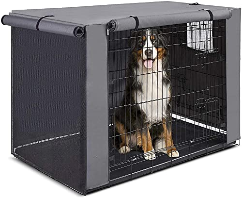 Dog Kennel Cover for 42 Crate: Insulated Dog Crate Covers Repels Water Stains, Pet Kennel Covers Only - Without Cage