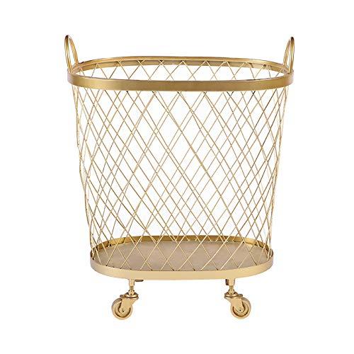 LIYANXYL Cesto de Ropa rodante para el hogar con Ruedas Bolsa de Cesta de Ropa Sucia para Cuarto de Lavado, hogar (Oro) Cestos de almacenaje