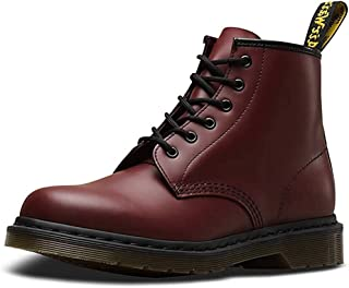 حذاء برقبة 101 6-Eye للبالغين من الجنسين من Dr. Martens (12 UK، أحمر كرزي ناعم)