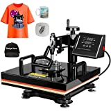TUSY 15''x15'' 5 in 1 Heat Press Machine Combo Swing Away Heat Transfer Press Digital Sublimation for T-Shirts/Mugs/Caps/Plates/Hats