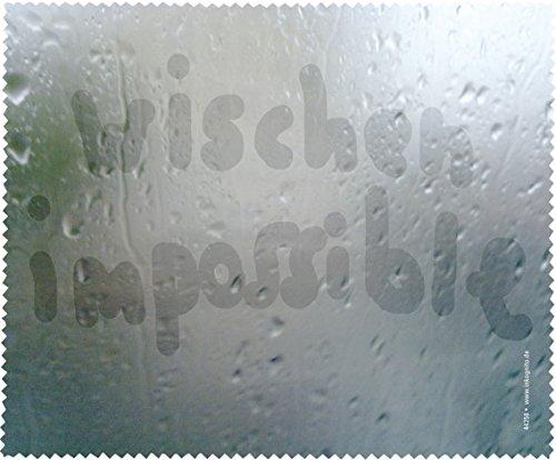 Brillenputztuch 17 x 15 cm • 44258 ''Wischen impossible'' von Inkognito • Künstler: INKOGNITO © Martin Scheffler