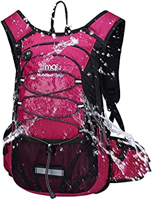 Mubasel Gear Insulated Hydration Backpack Pack with 2L BPA Free Bladder - Keeps Liquid Cool up to 4 Hours – for Running, Hiking, Cycling, Camping (Purple)