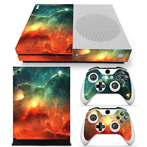 46 North Design Xbox One S Folie Skin Sticker Konsole Galaxy aus Vinyl-Folie Aufkleber Und 2 x Controller folie & Kinect Skin