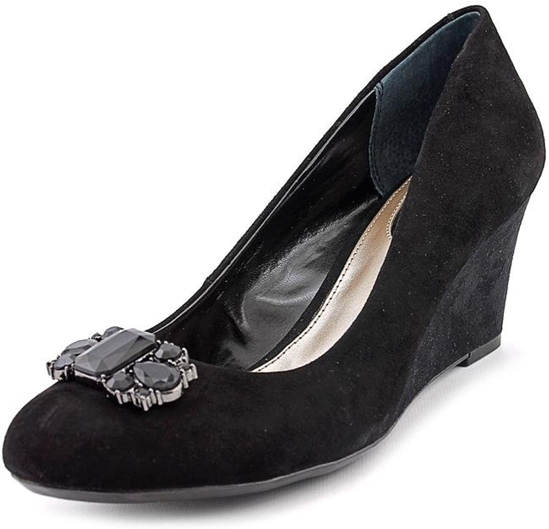 Alfani Dannah Womens Size 7 Black Suede Wedges Heels shoes