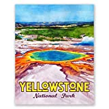 Yellowstone National Park Poster, 28 x 35 cm, Reise-Poster,