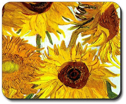 Van Gogh - Sunflowers II Mouse Pad - by Art Plates