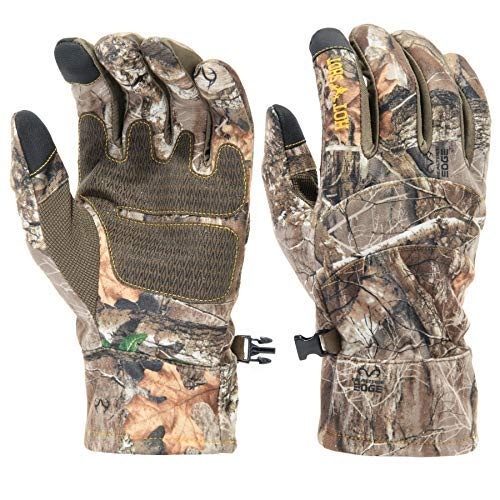 Hot Shot Men's Camo Swiftstrike Pro-Text Gloves – Realtree Edge Outdoor Hunting Camouflage Gear