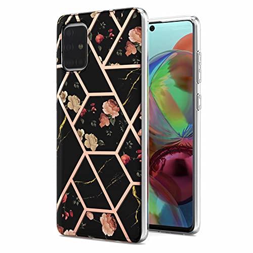Compatible para iPhone 12 / iPhone 12 Pro, carcasa ultra fina de silicona suave con mármol, mate, carcasa de protección para iPhone 12 / iPhone 12 Pro