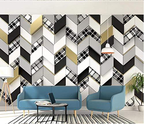 Papel Pintado Pared 3D 320X230Cm Papel De Pared Mural Pared Costura De Mosaico Retro