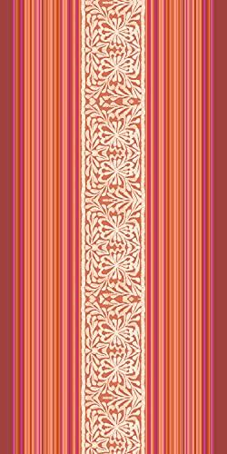 Bassetti Italiana In Algeri - Toalla de Playa (algodón, 90 x 180 cm), Color Rojo