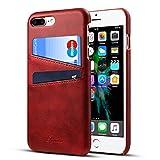 Rssviss iPhone 7plus Hülle Handyhülle für iPhone 8 Plus Handyhülle Brieftasche [2 Kartenfächer...