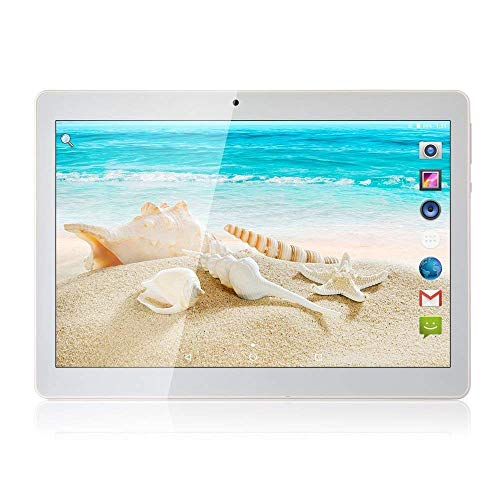 Tablet Android 8.1, Tablet da 10 pollici con processore quad-core da 4GB RAM 64 GB con lo schermo IPS HD, Tablet famiglia con, GPS, FM, WiFi 5G, Corpo in Metallo (Argento)